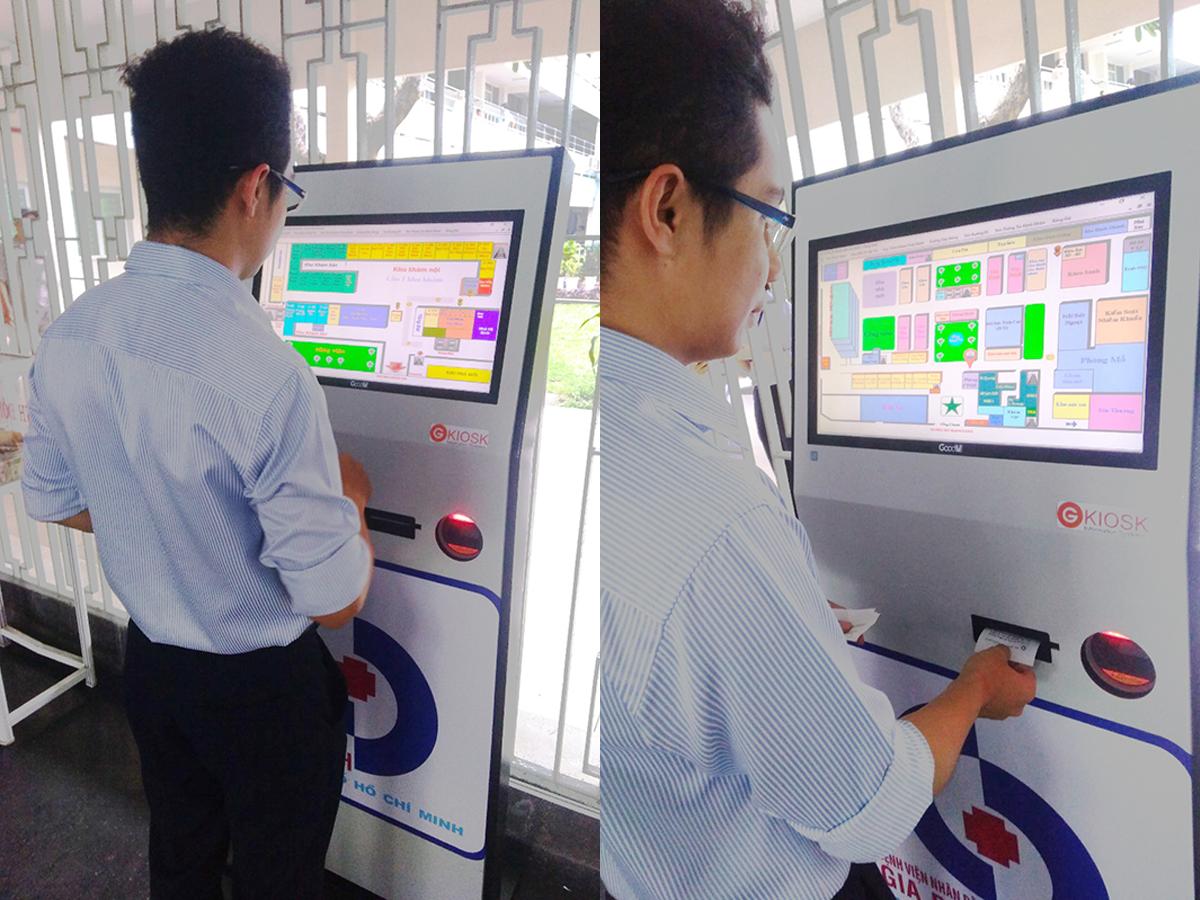Máy kiosk xếp hàng lấy số thứ tự